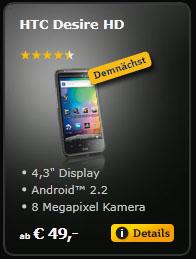 HTC Desire HD bei A1